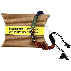 Bracelet Chakra - Bracelet de cheville avec 7 pierres naturelles de chakra - Bracelet curatif