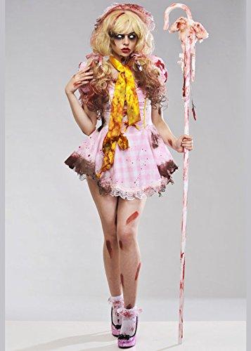 Damen Halloween Zombie BO Peep Kostüm Small (UK 8-10)