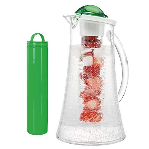 bremermann Kühlkaraffe, Wasserkaraffe 2,4 Liter mit Kühl- und Aromastab (grün)