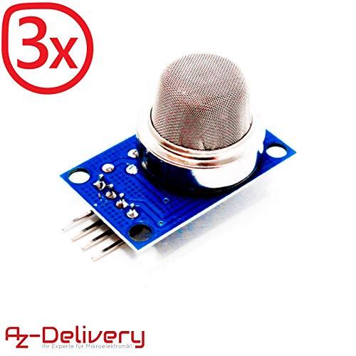 AZDelivery ⭐⭐⭐⭐⭐ 3 x MQ-135 Gas Sensor Luftqualität Modul für Arduino mit gratis eBook! -