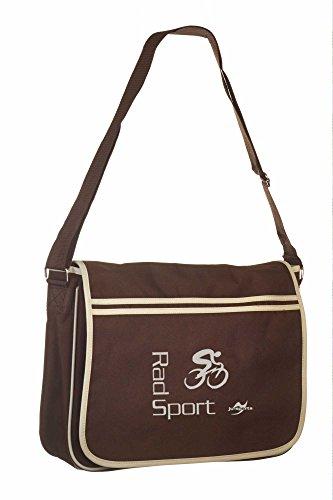 Retro Messenger Bag BG71 gold/schwarz Radsport