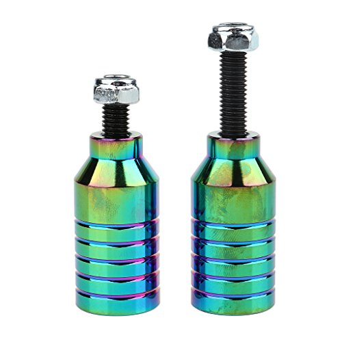 Homyl 2pcs Aluminiumlegierung Roller Pegs für Scooter Reparatur Kit - Bunt