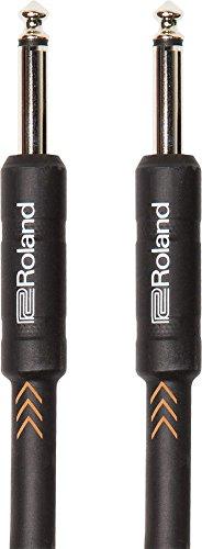 Cavo Patch/Pedale Roland Black Series 1M/3Ft Cavo per Strumenti Spina Dritta/Dritta da 1/4