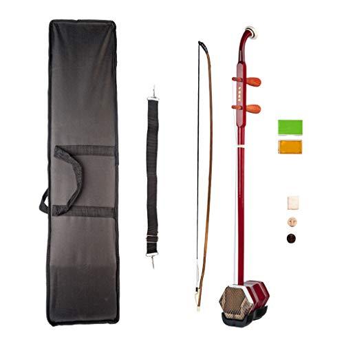 perfeclan 1 Set 2 Cuerdas Erhu Chino Violín Instrumento Musical Tradicional - rojo, 81 x 13 x 10cm