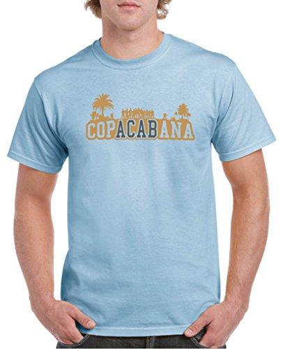 Comedy Shirts - Copacabana Palmen - Herren T-Shirt - Royalblau/Hellbraun-Grau Gr. M