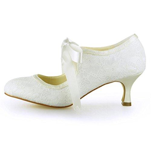 Jia Jia Wedding Hochzeitsschuhe Brautschuhe Damen Pumps Beige - 2