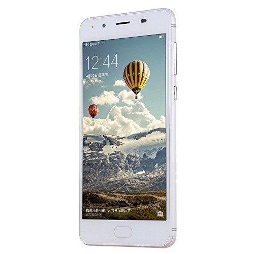 Smartphones,YULAND 5''Ultrathin Android 5.1 2G + 8G Viererkabel 4G / GSM WiFi Bluetooth Doppel-Téléphone intelligent (Weiß)