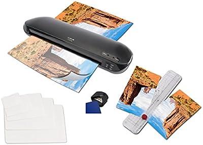 Olympia Plastificadora 4 en 1, tamaño DIN A3, 330,con dispositivo de corte, 15folios DIN A4hasta tarjeta de visita y redondeador de esquinas