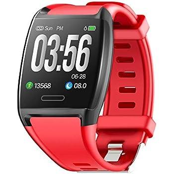 Fitness Tracker, Letopro Monitor de Ritmo cardíaco IP67 ...