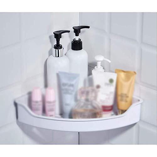 Hesolo Wandregal Schwimmendes Regal, Eckregal aus Kunststoff, Badezimmerregal, Wandregal für Badezimmer, Aufbewahrungskorb für Shampoo, Conditioner, Seife -