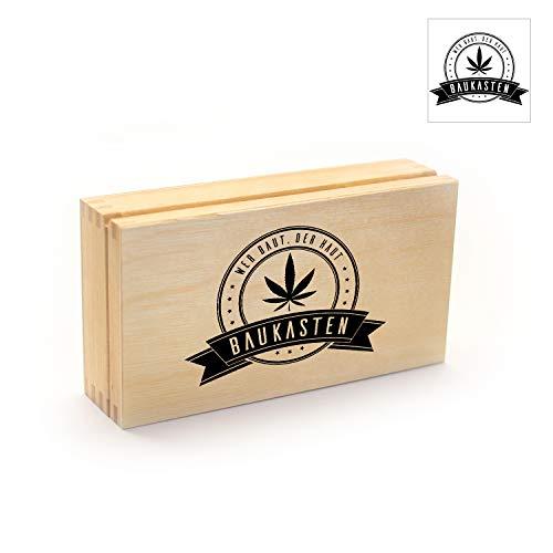 "Wood Manufacture Rolling-Tray ""Baukasten"", Rolling-Box aus Holz, | Gras-Box | Joint-Box | Tabak-Box"
