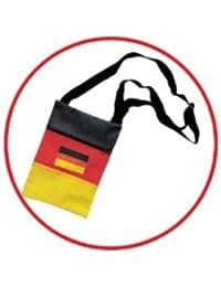 HAAC - Portadocumentos de cuello  Deutschlandsfarbe 16 cm x 12 cm