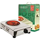 ORBON 1250 Watt Big Rectangular Silver Chrome G Coil Stove Hot Plate Induction Cooktop/Induction Cookers/Electric Cooking Heater/Induction Radient Cooktop ( MADE IN INDIA )( HUGE DIWALI DISCOUNT & FREE SHIPPING )