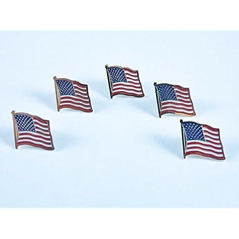 Lot Of 5 American Flag Patriotic Pin,