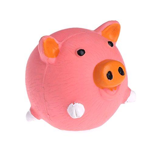 wiffe Spielzeug für Haustiere Hunde Katzen-Bälle mit Huhn Squeaker Latex Kauspielzeug mit-Zähne