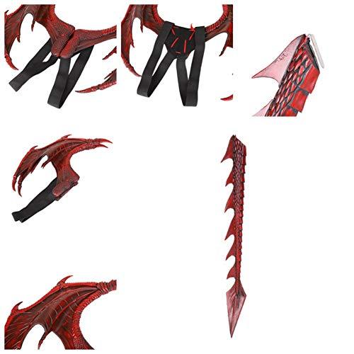 Einfache Kostüm Für Teens - Zweiteiliger Drache Cosplay Requisiten Flügel und
