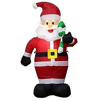 Euopat Navidad Papá Noel, Decoración Navideña, Papá Noel Navidad Inflable Ilumina La Decoración del Patio Muñeca, Jardín Al Aire Libre Interior Decoración Navideña