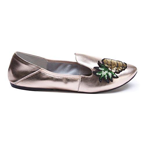 Cocorose Faltbare Schuhe - Carnaby Damen Espadrilles Rose Gold & Pineapple