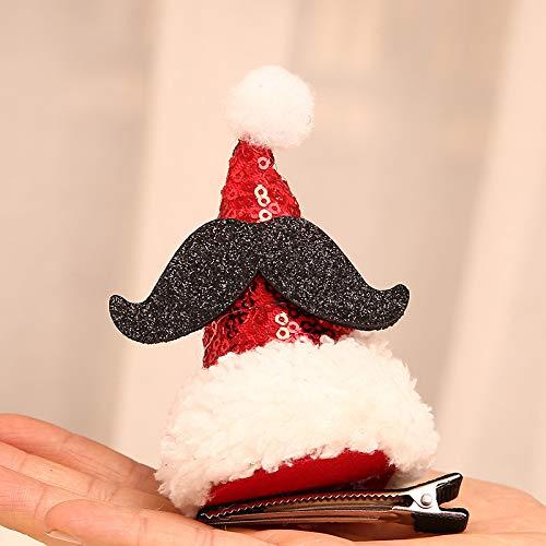 Weihnachtsdekorationen, die Erwachsene Kinder des netten Headwearfeiertags, paillettenbesetzte Huthaarnadelkarikatur-Haarclipkarte Hu Zailiang-Blatt