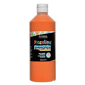 Piccolino - Pintura para Dedos (500 ml, Lavable), Color Naranja
