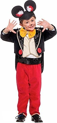 Fancy Me Italienische Herstellung Deluxe Baby &ältere Jungen smart smoking Maus Cartoon Film Welttag des buches-tage-woche Halloween Kostüm Kleid Outfit 1-6 Jahre - Weiß, 3 years (Deluxe Fliege Weste)