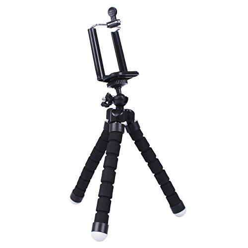 TuoOh Felxible Rotierenden Schwamm Octopus Stil Stativ Halterung Ständer Halter für iPhone X / 8/8 Plus, 7/7 Plus, 6/6 s, 6/6 s Plus, SE / 5 s / 5 / 5c, Samsung Galaxy S7 / S7 Edge, S6 / S6 Edge, Hinweis 5/4/3 Mehr Kamera & Handy, Kamera mit Clip (Shot-tasche-ständer)