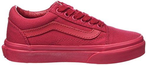 Vans Atwood, Baskets Basses Mixte Enfant Rouge (Crimson)