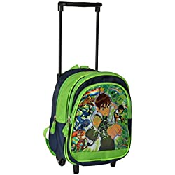 Bazaar Pirates Polyester 22 Cms Green Softsided Children's Luggage