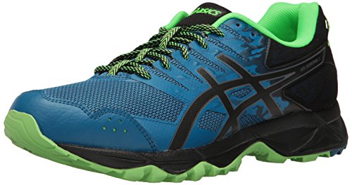ASICS Gel-Sonoma 3 Scarpe da Trail Running, Blu (Thunder Blue/Black/Green Gecko), 43.5 EU