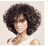 SHKY Pelucas naturales pelucas naturales de pelo corto con perlas de alta calidad para las mujeres Cosplay o uso diario