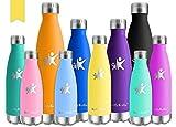 KollyKolla Bottiglia Acqua in Acciaio Inox, 650ml Senza BPA Borraccia Termica, Isolamento Sottovuoto...