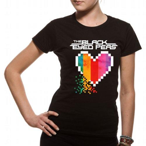 Loud Distribution Damen Musik und FilmT-Shirt mit Aufdruck Schwarz