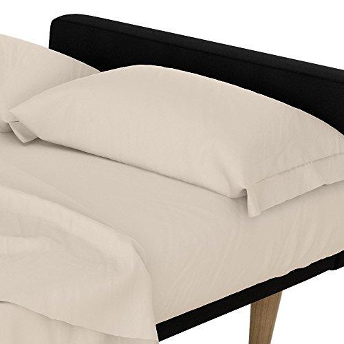 DHP Futon- und Schlafsofa Mikrofaser-Bettlaken-Set, weiß, Mikrofaser, Natural/Beige, Twin