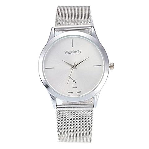 Femme montre, Fuibo 2017nouveaux Mode femelle horloges montre à quartz de luxe Femme en maille Sangle montre D