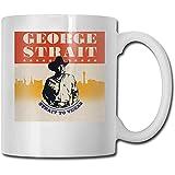 George Strait Migliori idee regalo per la festa del papà per tazze da caffè Divertente regalo di Natale Mug Personalità Drink Cup 11 once (330 ML)