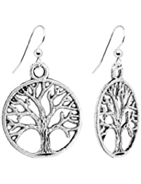 Silver Circle Tree of Life Earrings by Aphrodite Gold ©