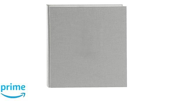 30/x 31/cm 31606 Grigio Summer Time Trend 2 Goldbuch Album Fotografico Lino 100/Pagine Bianche con Pergamena di Taglio Foglie