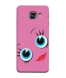 PrintVisa Cute Girly Face 3D Hard Polycarbonate Designer Back Case Cover for Samsung Galaxy A5 (6) 2016 :: Samsung Galaxy A5 2016 Duos :: Samsung Galaxy A5 2016 A510F A510M A510Fd A5100 A510Y :: Samsung Galaxy A5 A510 2016 Edition