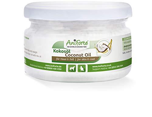 AniForte Kokosöl für Tiere 220ml, Kaltgepresst, Nativ, Kontrollierte Premium Qualität, Schutz, Ergänzung und Pflege für Fell, Kokosnussöl Kokosfett für Hunde, Katzen und Haustiere, Kokos Öl flüssig