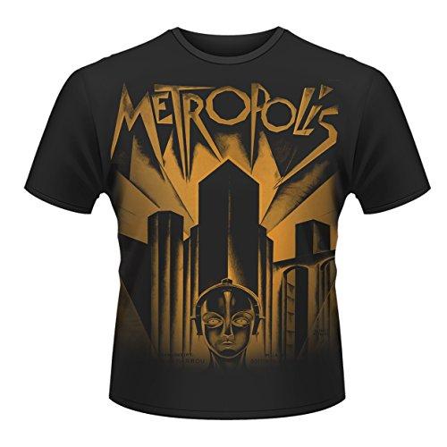 Metropolis Vintage Horror Official Herren Nue schwarz T Shirt Alle Größen (Blu Computer Ray)