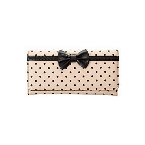 Banned - Damen Polka Dot Pin Up Geldbörse Portemonnaie - Hepburn (Creme) -