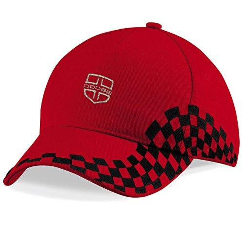 DODGE USA Bestickte Auto Logo Mütze Baseball Cap - Neu Kollektion -1135 (Rot)