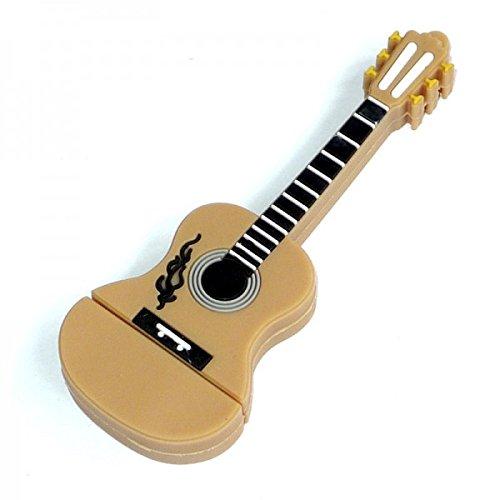 Chitarra 16 gb - guitar music - chiavetta pendrive - memoria archiviazione - dei dati - usb flash pen drive memory stick - marrone