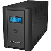 PowerWalker VI 2200 SHL Schuko Línea interactiva 2200VA 4salidas AC Torre Negro sistema de alimentación ininterrumpida (UPS) - Fuente de alimentación continua (UPS) (2200 VA, 1200 W, 170 V, 280 V, 50/60, 95%)