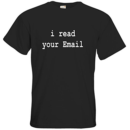 getshirts - Best of - T-Shirt - Geek - i read your email - black 3XL