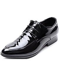 HYLM Negocio de los zapatos casual hombres zapatos de la boda Shi Leisi, zapatos de los hombres brillantes , black , 38