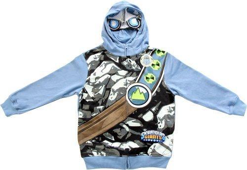 Skylanders Giants Jungen Storm blau Zip Up Kostüm Hoodie Sweatshirt (Jungen - Skylander Kinder Kostüm