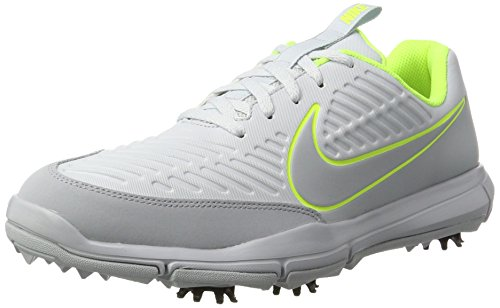 Nike Explorer 2 S, Golfschuhe, Grau (Pure Platinum/Wolf Grey/Volt), 45 EU (10 UK)