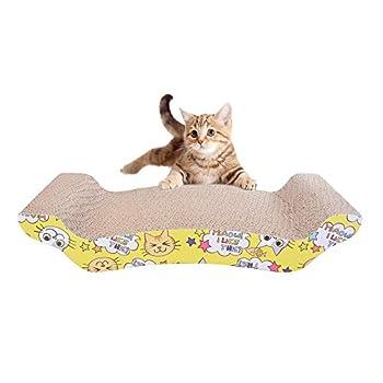 Roblue Griffoirs pour Chats Chatons Plaque à Griffes pour Chats Petit Animaux en Papier Ondulé Durable Canapé Coussin Chat