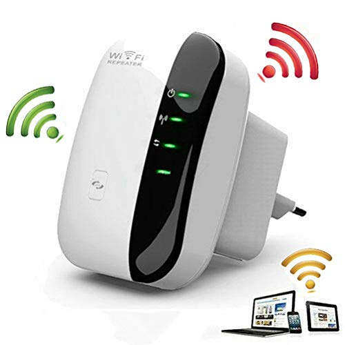ZUZU WiFi-Repeater, WLAN-Signalverstärker mit WLAN-Adapter, 300-Mbps-WLAN-Mini-Repeater, integrierte 2,4-GHz-Antennen nach IEEE-Standard -